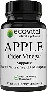 Remarkable Ultra Pure Apple Cider Vinegar Pills Support Digestion & Acid Reflux Apple Cider Vinegar Capsules for Weight Loss, Non-GMO
