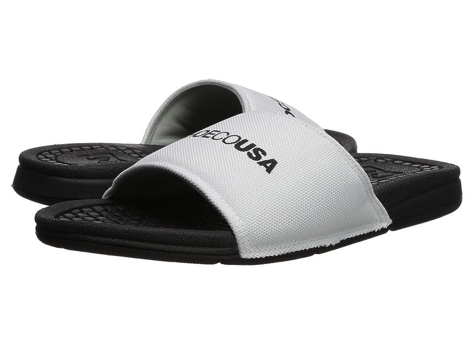 5e332387a0b0 DC Bolsa SP (White Black) Women s Slide Shoes