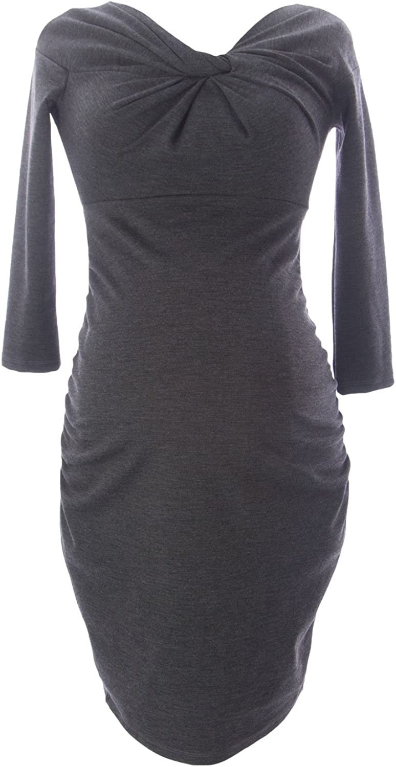 JULES & JIM Maternity Women's Front Knot Dress Small Antracite