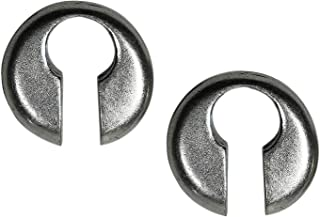 Pesos de oreja de pareja plateados plata para lóbulos estirados - Dos pendientes dilataciones orejas -