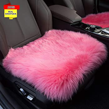 Pink Bell Automotive 22-1-33857-1 Universal Shaggy Seat Belt Shoulder Pad