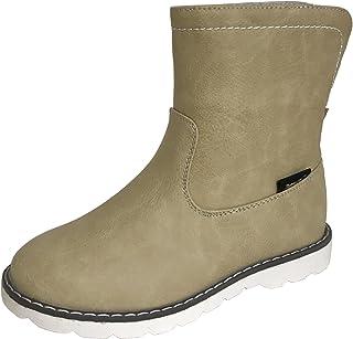 [アマート] ジュニア 折り返し 2way ハーフ ブーツ 長靴 雨靴 防水 通学 親子 ファミリー ガールズ ボーイズ 3色 AMT-3201 (21.0 cm, ベージュ)