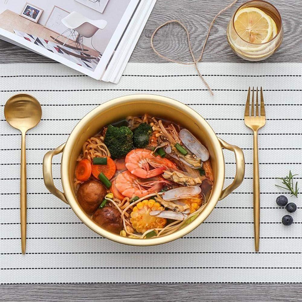 HJFGSAK 2UUKVY2n-14cm Pot Pot de Soupe en Aluminium Jaune Cuisson ustensiles de Cuisine Multifonction antiadhésive Casserole ustensiles de Cuisine, 14 cm 16cm