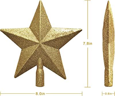 2-Piece Multi-Colour,12.5-Inch Craft Outlet Rustic Tin Star On Wire Table Topper