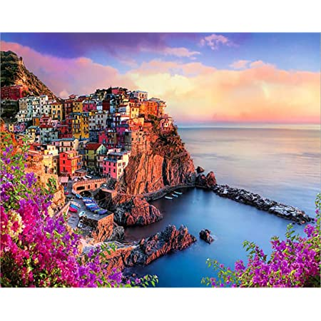 Monarolla Village Italy Scenery Landscape Painting Paint By Numbers Kit DIY