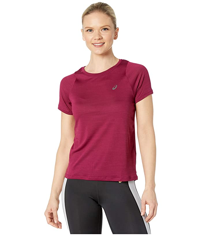 ASICS  Tokyo Short Sleeve Top (Dried Berry) Womens Clothing