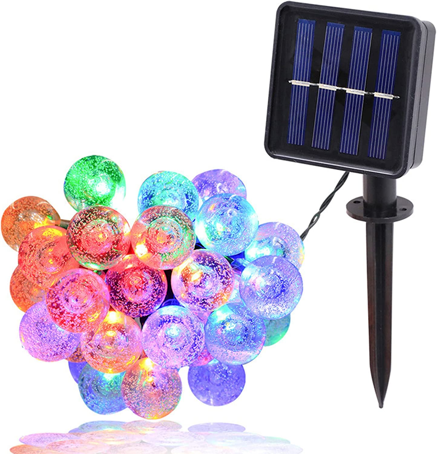 Max 41% OFF 2 Pack Outdoor Solar String Solar-Pow Modes Gifts 8 Waterproof Lights