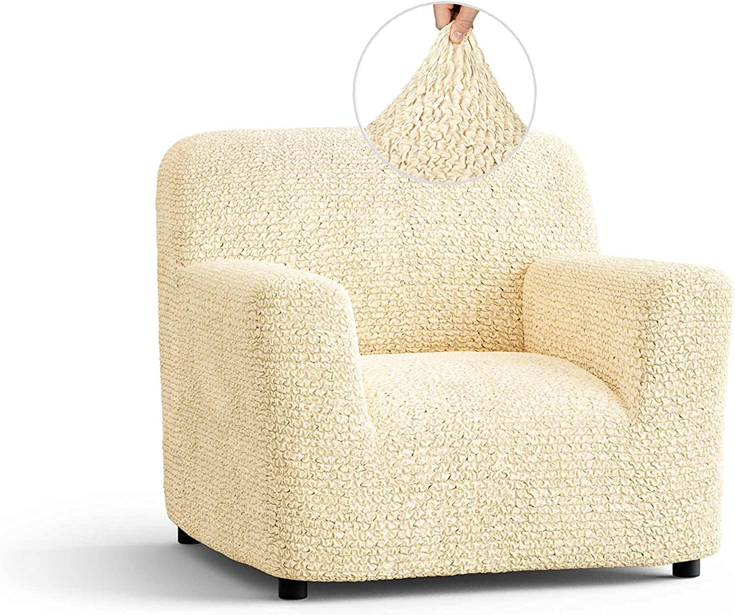 Fort Worth Mall Chair Cover - Armchair Luxury goods Polyest Slipcover Soft