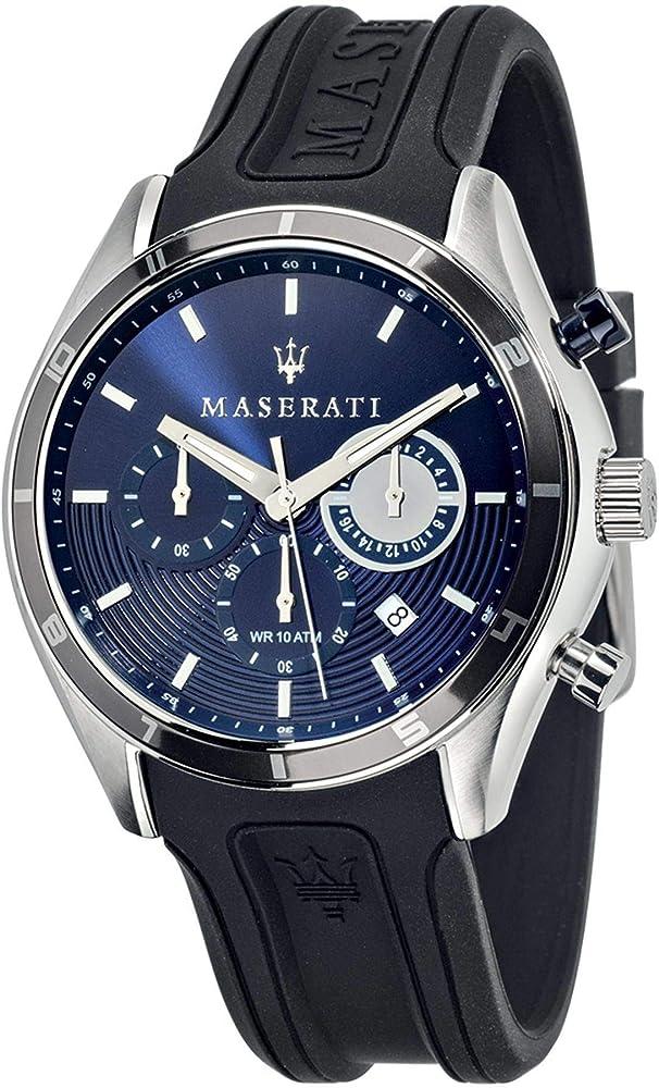Maserati orologio uomo cronografo  in silicone e acciaio R8871624003