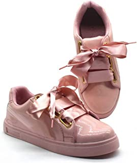 Zapatoz Women's/Ladies/Girls Synthetic Leather (PU) Bow Tie Design Casual Shoes/Casual Sneakers/Casual Shoes/College Shoes Shoes/Sneaker_(9615)