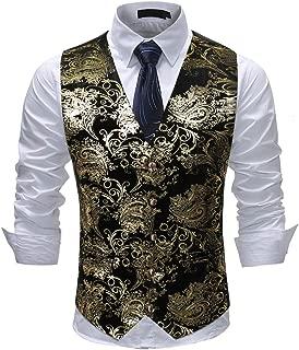Mens Single Breasted Vest Dress Vest Slim Fit Button Down Prom Formal Suit Vest Waistcoat