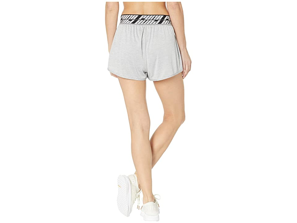 PUMA Own It 3 Shorts (Light Grey Heather) Women's Clothing, Gray