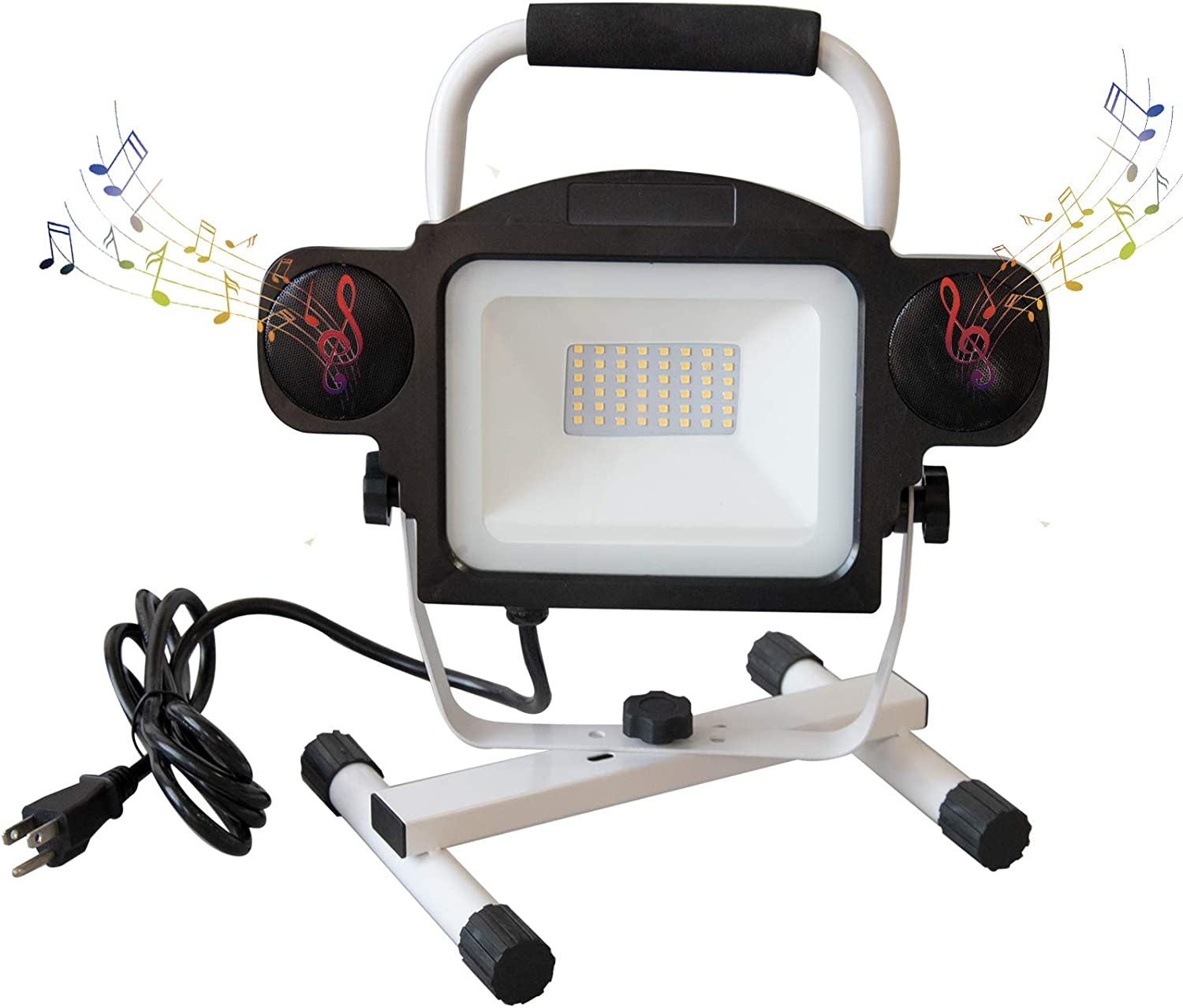 LED Work Light Portable 50W with Speaker Max 52% OFF Real 5000LM S Max 68% OFF Bluetooth