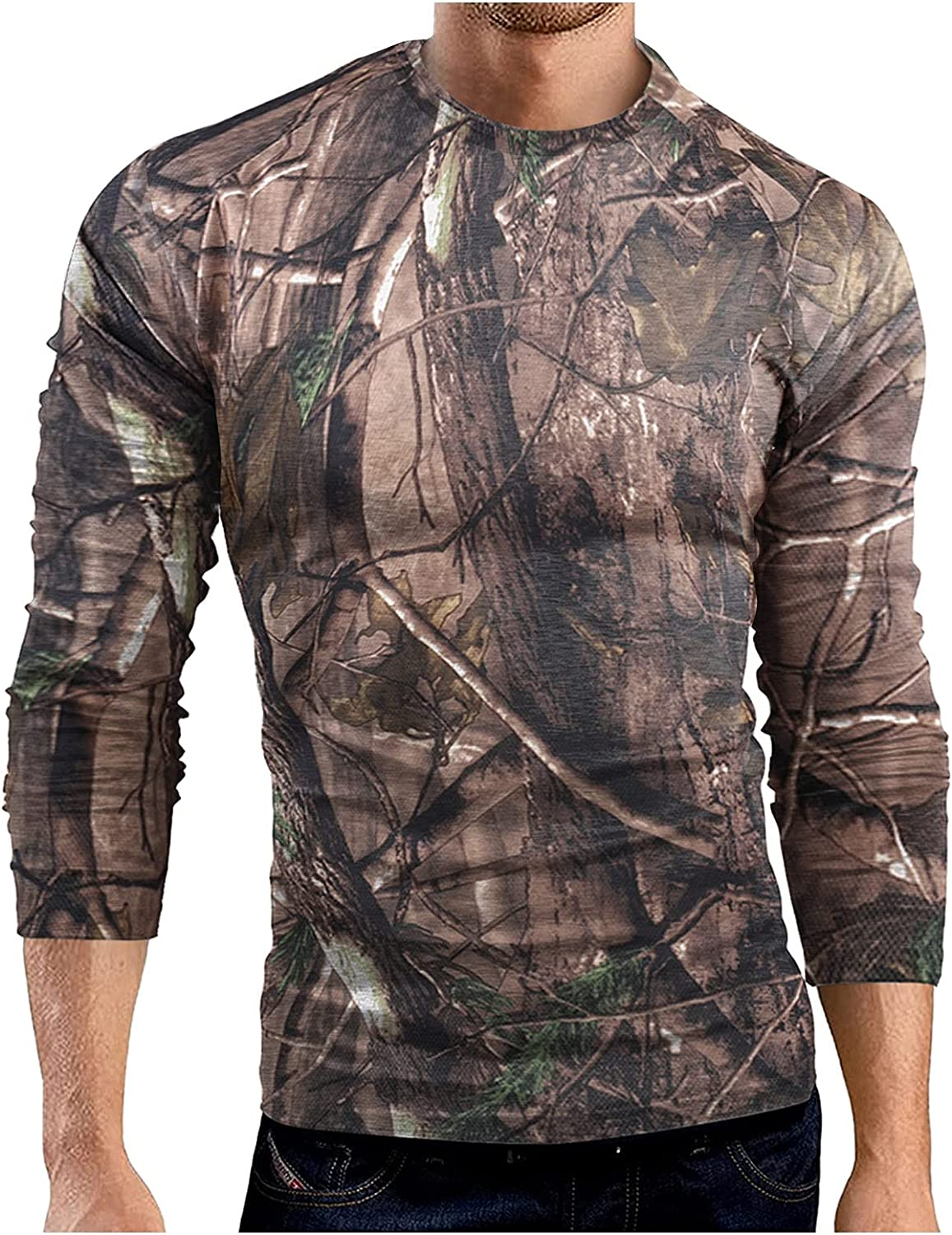 Huangse Mens Camouflage Short Sleeve Shirts Patriotic Tees Quick Dry Gym Athletic Workout Fitness Vintage Camo T-Shirts