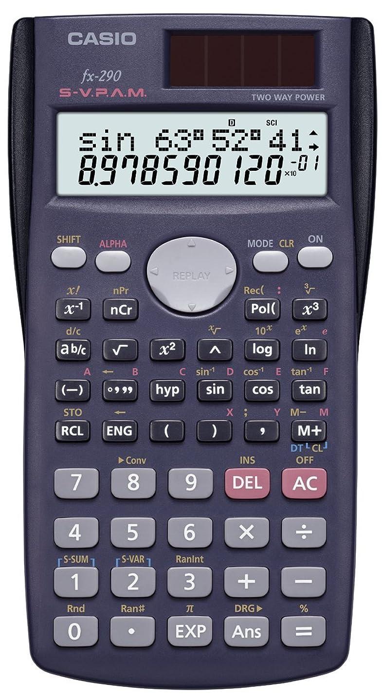 徒歩で苦しむ理容室カシオ 関数電卓 2桁表示 199関数 10桁 FX-290-N
