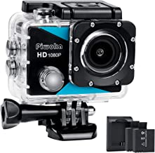 $27 » Sports Action Camera 1080P, Piwoka Ultra HD 12MP Waterproof Cam, 170° Wide Angle Underwater Camcorder with 2 Batteries, Battery Charger and Mounting Accessories