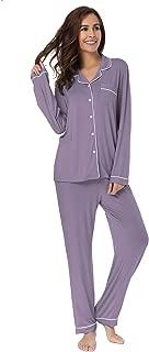 SIORO Soft Womens Pajama Sets, Modal Long Sleeve Pajamas for Women,Sleepwear