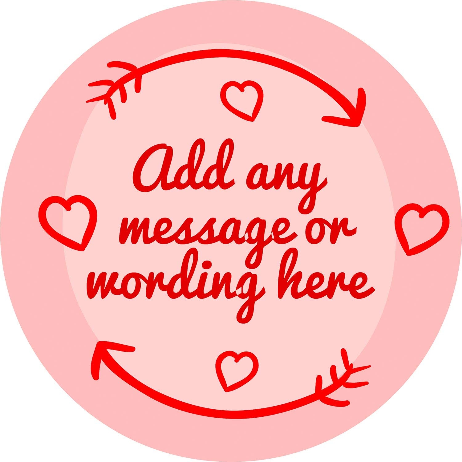 Happy Valentine/'s Day you are Loved Custom Personalised Sticker Labels Wax Melt Party Favor Sweet Cone Candle Oil 4.5 CM x 24 // 1, A4 Sheet