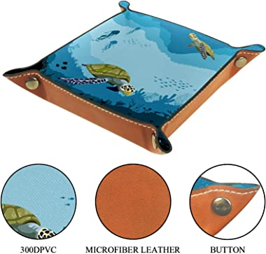 Turtle Underwater Blue for Bedside or Entry Way Catch All Tray