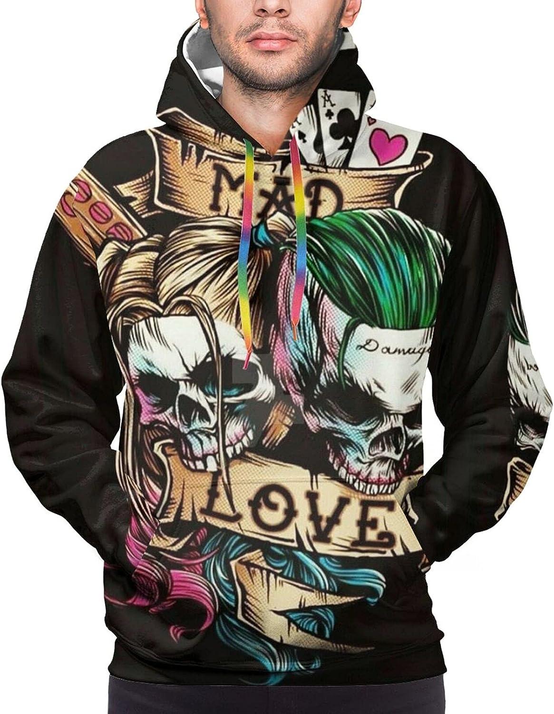 Hoodie For Mens Womens Teens Mad Skull Love 3d Printed Hooded Sweatshirt