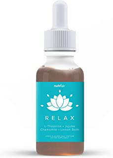Nutriair Relax Anti Anxiety Supplement - Naturally Calm Mood Boost & Support Vitamins to Relax Your Mind & Relieve Stress with Ashwagandha, Lemon Balm, GABA, L-Theanine, and Chamomile (60 Capsules)