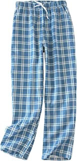 Mens Pyjama Bottoms Plaid Lounge Wear Pants Sleepwear Casual Pjs Trouser Nightwear with Pockets