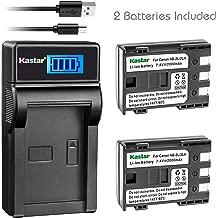 Kastar Battery (X2) & LCD Slim USB Charger for Canon NB-2L NB-2LH NB-2L12 NB-2L14 NB-2L24 BP-2L5 BP-2LH and Canon EOS Digital Rebel XT Xti Cameras