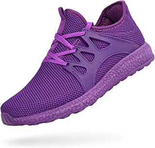 ZOCAVIA Womens Non Slip Light Weight Running Shoes Purple Size: 7