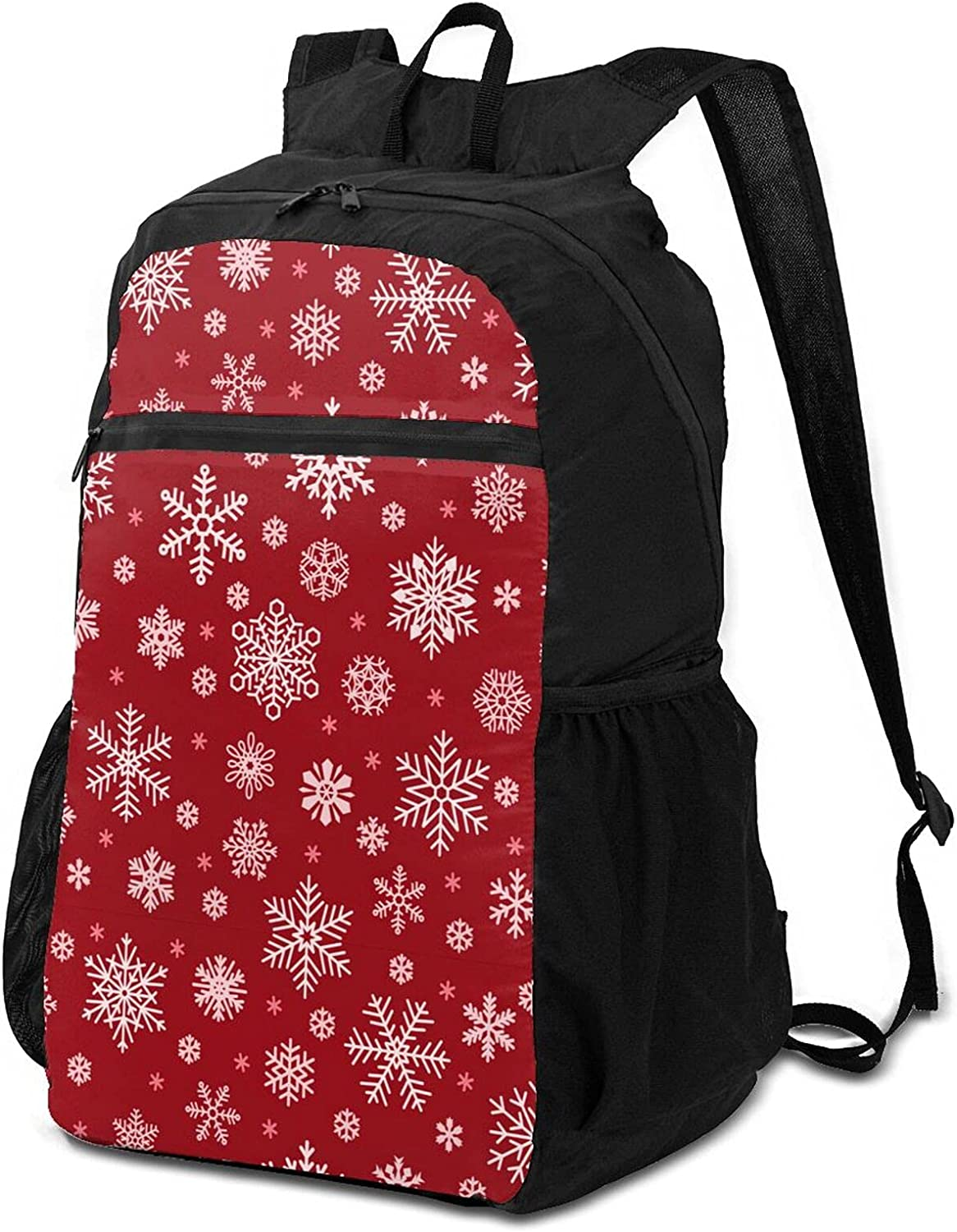Christmas Regular store Snowflake Star in Packable Credence Lightweight Winter Backpack