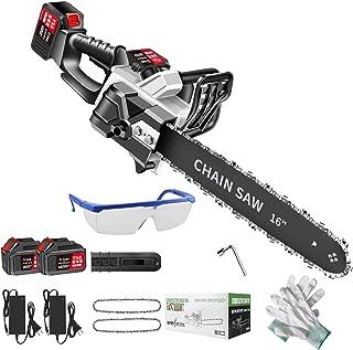 XLOO 4 tum/30 cm/40 cm kedjesåg, drivs av två litiumbatterier, hög hårdhet, automatiskt smörjoljeinjektionssystem, för skä...