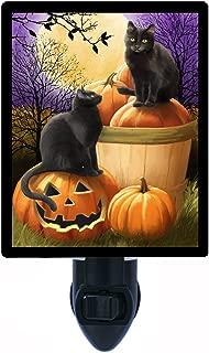 Halloween Night Light, Midnight Rendezvous, Cats and Pumpkins