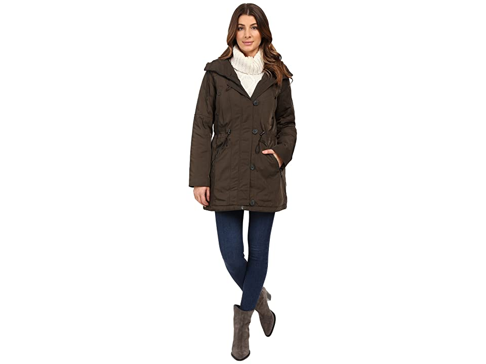 Marc New York by Andrew Marc Chrissy 32 Luxe Rain Coat (Loden) Women