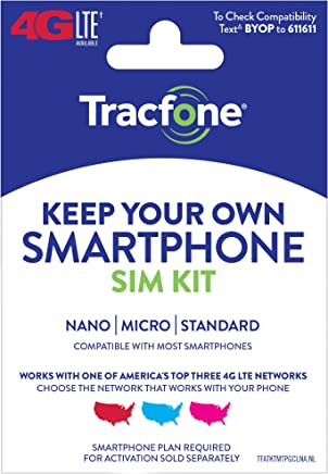 Tracfone Keep Your Own Phone 3-in-1 Prepaid SIM Kit