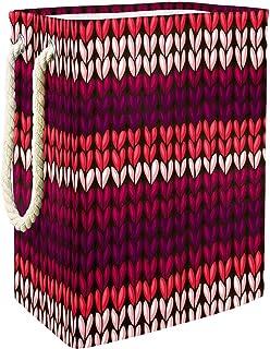 Vockgeng Coeur Rouge Accueil Organisation Panier de Rangement imperméable Pliable de Jouets de Jouets de Panier avec des p...