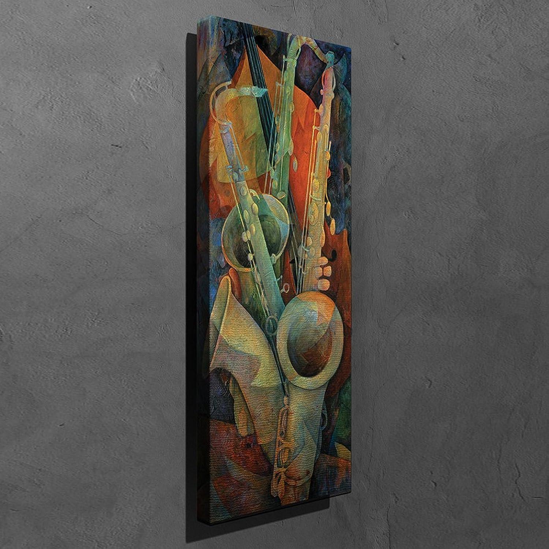 and Saxophone Three - Art Wall Canvas Musical Violin