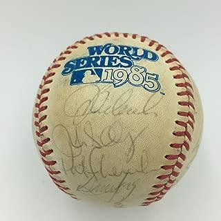 1985 royals team signed baseball