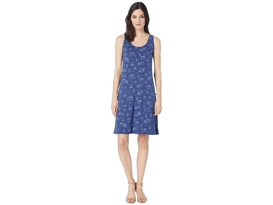 Fresh Produce Seaside Escape Drape Dress (Moonlight Blue) Women