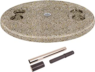 """S.R.Smith PL-30 UMB TABLE-CH-55 30"""" Umbrella Hole, 4 Cup Holders in-Pool Table, inch with Cupholders, Pebble"""