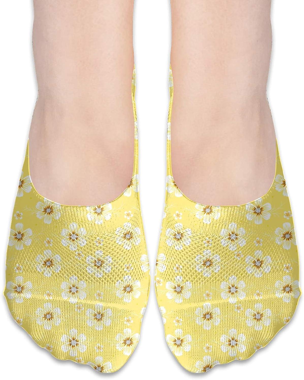 Cosmos Flower Comfortable Boat Socks-Sweat Wicking Non-Slip Socks Leisure Sports Deodorant Foot Socks
