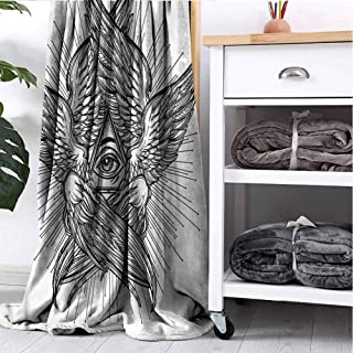 GOMAE Blanket Eye Providence Vintage Angel Dorm Bed Nursery Crate Traveling Couch Napping Reading Recliner W54 xL72
