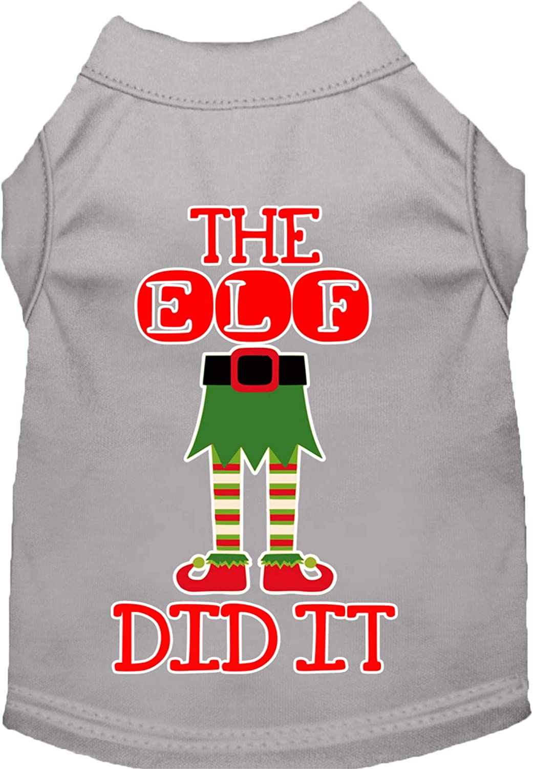 Mirage Pet Product The Elf Finally popular brand Did It XX Screen Grey Print Dog Shirt lowest price