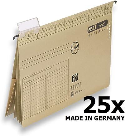 Elba 100082310 Projekt und Personalhefter vertic Ultimate 25er Pack aus Recycling-Karton f�r DIN A4 Braun Blauer Engel Ideal im B�ro und der Beh�rde