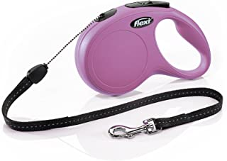 Flexi New Classic Retractable Dog Leash (Cord), 26 ft, Small, Pink
