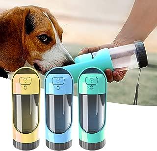 Dream Allison Dog Water Bottle for Walking Pet Travel Dispenser Bottle Portable Drink Cup for Puppy Outdoor Hiking, 10.14oz