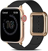 MARGE PLUS Compatible with Apple Watch Bands SE Series 6 5 4 40mm 44mm / Series 3 2 1 38mm 42mm for Men Women, Soft Leathe...
