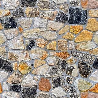 LZYMLG 45cmx100cm Home Improvement Self Adhesive Wallpaper Brick Stone Wood Textured 3D Wallpapers for Living Room Store and Barbershop SA-1014 45CMx100CM