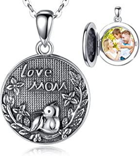 Round Shaped Pendant Necklace Photo Pendant Jewelry Vintage Locket Necklace Circle Open Photo Box Jewelry Carved Stripe Locket For Women