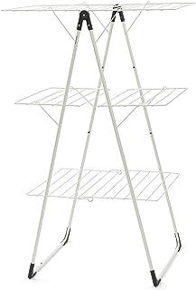 Brabantia 477843 Séchoir d'Intérieur - Modèle en T Pliable - 23 m - Blanc