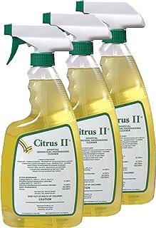 Citrus II Hospital Germicidal Deodorizing Cleaner Spray Citrus, 22-Ounces Each, Pack of 3