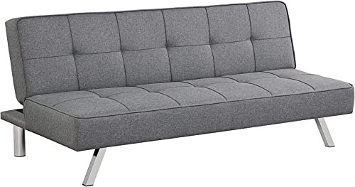 discount Giantex 3-Seat online sale Convertible Sofa Bed, Sofa Bed w/ 3 Adjustable Angles, Line Fabric & High-Density Sponge, Durable Wood 2021 Frame &Sturdy Stainless-Steel Feet, Suitable for Living Room, Bedroom sale